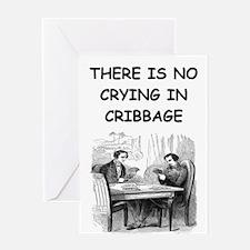CRIBBAGE6 Greeting Cards
