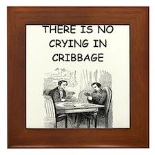 CRIBBAGE6 Framed Tile