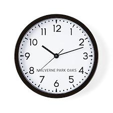 Malverne Park Oaks Newsroom Wall Clock