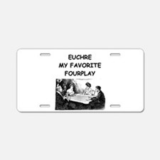 EUCHRE12 Aluminum License Plate