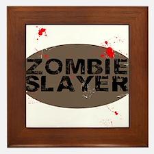 Zombie Slayer Framed Tile