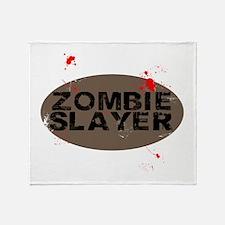 Zombie Slayer Throw Blanket