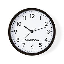 Marissa Newsroom Wall Clock