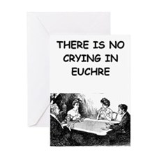 EUCHRE6 Greeting Cards