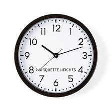 Marquette Heights Newsroom Wall Clock