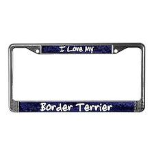 Funky Love Border Terrier License Plate Frame