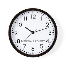 Marshall County Newsroom Wall Clock