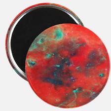 Orange Galaxy print Magnet