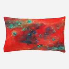 Orange Galaxy print Pillow Case