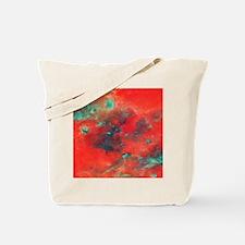 Orange Galaxy print Tote Bag