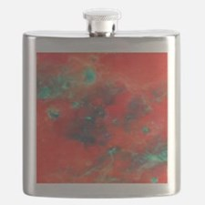 Orange Galaxy print Flask