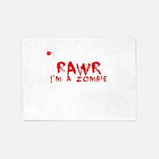 RAWR Im a Zombie 5'x7'Area Rug
