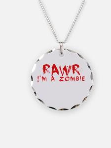 RAWR Im a Zombie Necklace