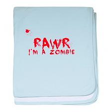 RAWR Im a Zombie baby blanket