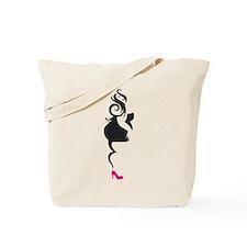 Curvy PinUp Girl Tote Bag