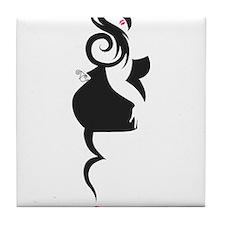 Curvy PinUp Girl Tile Coaster