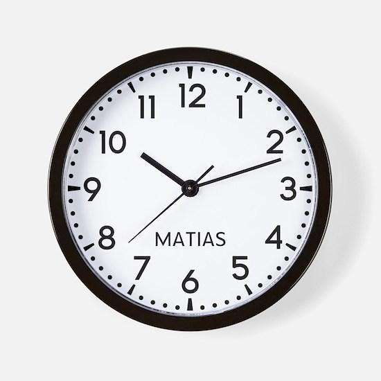 Matias Newsroom Wall Clock