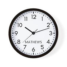 Mathews Newsroom Wall Clock