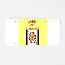 PINOCHLE15 Aluminum License Plate