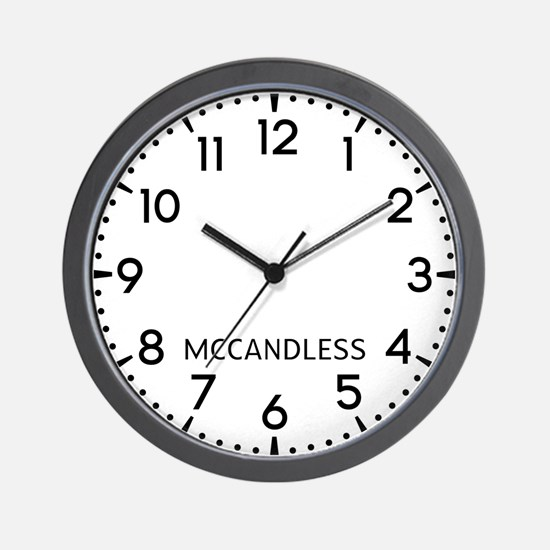 Mccandless Newsroom Wall Clock