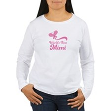 Worlds Best Mimi butterfly Long Sleeve T-Shirt