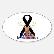 Melanoma Oval Decal