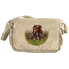 Cow And Calf Messenger Bag