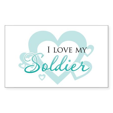 My hero wears combat boots - Sticker (Rectangular