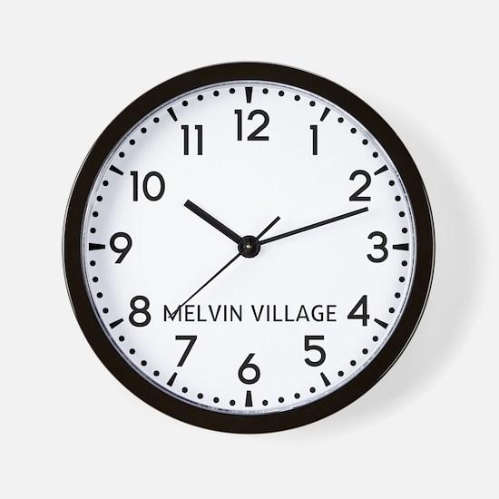 Melvin Village Newsroom Wall Clock