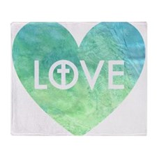 Love for Jesus Throw Blanket