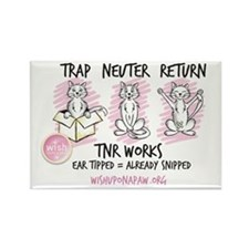 Wish TNR 3 Cats - Black Text Magnets