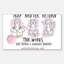 Wish TNR 3 Cats - Black Text Decal