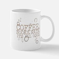 coffee.books.rain.brownlettering Mugs