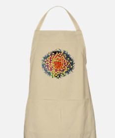 Red Green Flowers on Water Apron