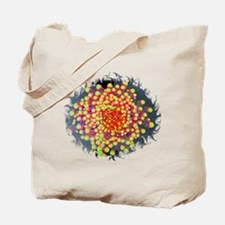 Red Green Flowers on Water Tote Bag