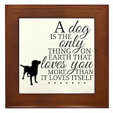 A Dog's Love Framed Tile