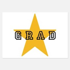 Grad Graduating Graduate Star Invitations