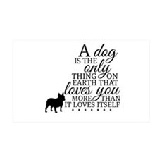 A Dog's Love Wall Decal Sticker