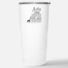 A Dog's Love Travel Mug