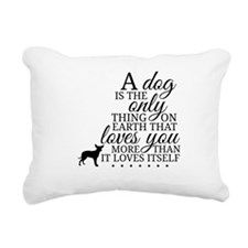 A Dog's Love Rectangular Canvas Pillow