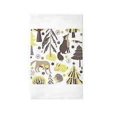 Woodland Animals 3'x5' Area Rug