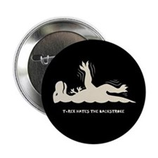 "T-Rex Backstroke 2.25"" Button"