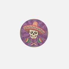 Mexican Skull Mini Button