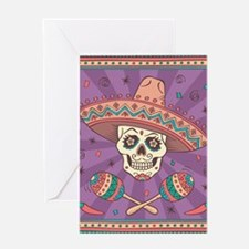 Mexican Skull Greeting Cards
