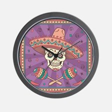 Mexican Skull Wall Clock