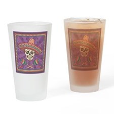 Mexican Skull Drinking Glass