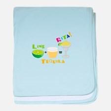 LIME + TEQUILA = RITA! baby blanket