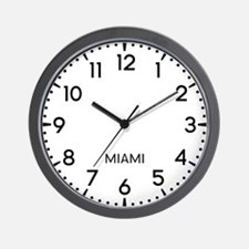 Miami Newsroom Wall Clock