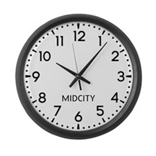 Midcity Newsroom Large Wall Clock
