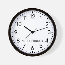 Middlebrook Newsroom Wall Clock
